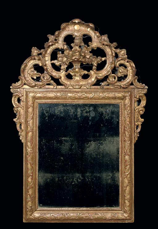 A NORTH-ITALIAN GILTWOOD MIRRO