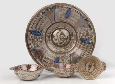 A Hispano-moresque lustre dish
