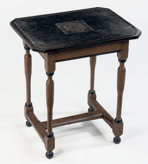 A FRENCH OAK AND EBONISED OCCA