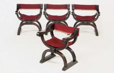 A SET OF FOUR ITALIAN SAVONARO
