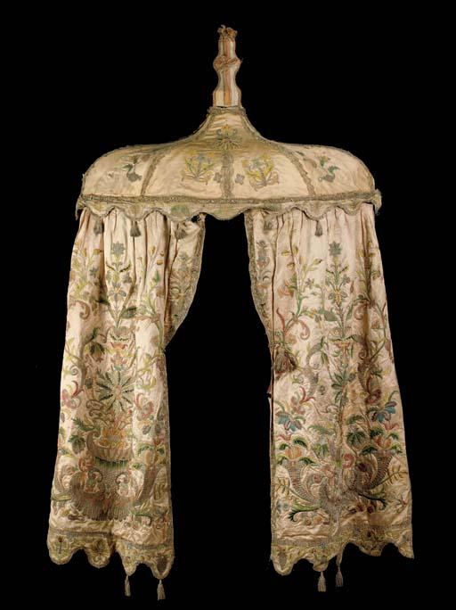 A North European silk and silv