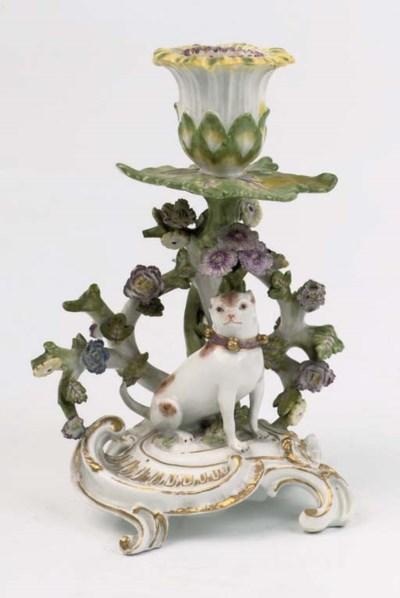 A Meissen 'pugdog' small chamb