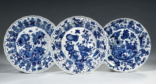 A pair and one blue and white