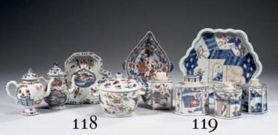 An assorted lot of Imari tea-c