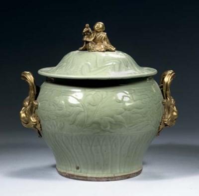 A Longquan celadon inscribed a