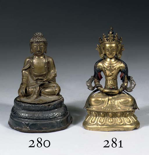 A Chinese bronze figure of Bud