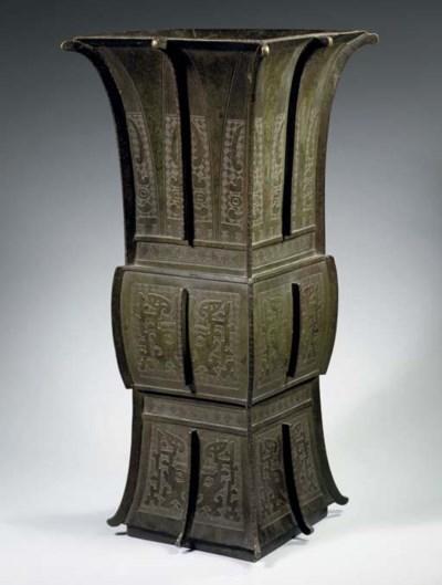 A massive bronze archaistic va