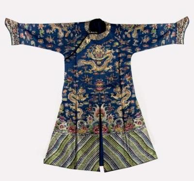 An embroidered silk informal r