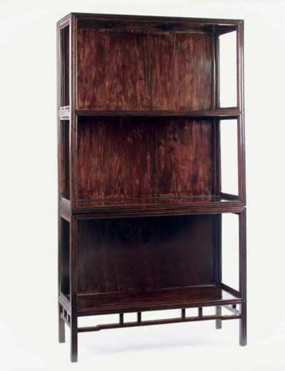 A lacquered hardwood display c