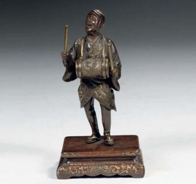 A small Miyao bronze figure