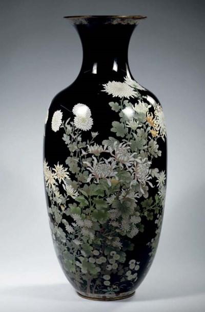 A large cloisonne vase