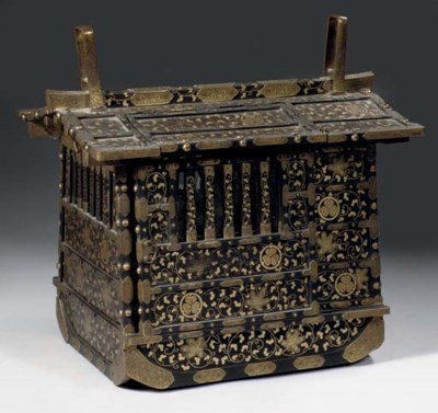 A lacquered palanquin