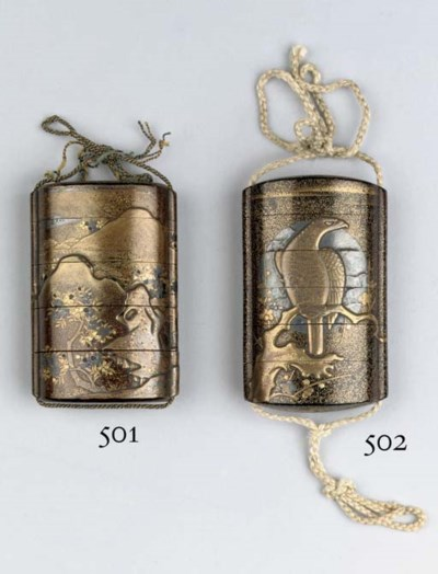A five-case lacquer inro