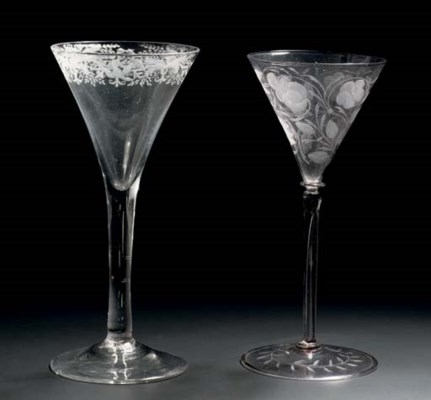 A Dutch-engraved goblet and a
