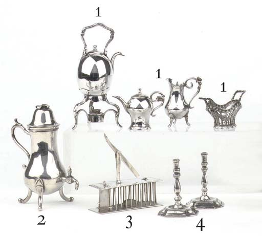 An unusual Dutch silver miniature mousetrap