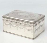 A Dutch silver biscuit-box
