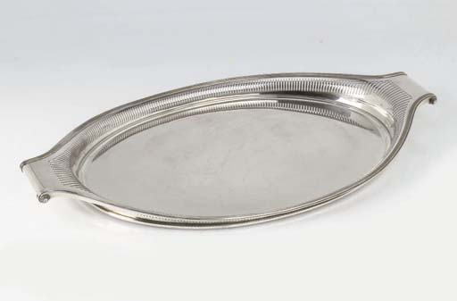 A Dutch silver tray