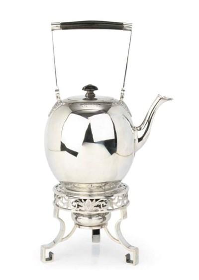 A fine Dutch silver tea-kettle