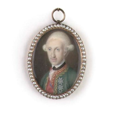 An austrian portrait miniature