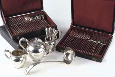 A quantity of Dutch silver fla