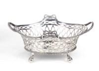 A Dutch silver sweetmeat basket