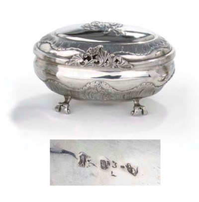 A German silver sugar box