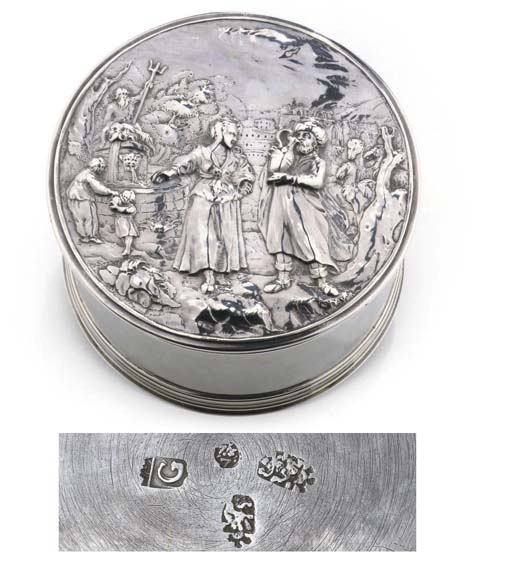 A fine and rare Dutch silver box