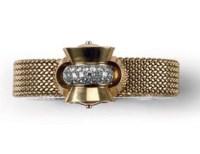 A RETRO LADY'S DIAMOND WRISTWATCH, SWISS, BY SOLVIL