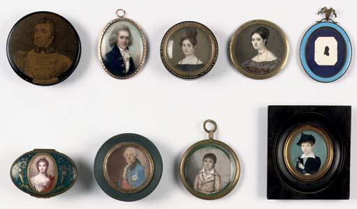 Five various portrait miniatur