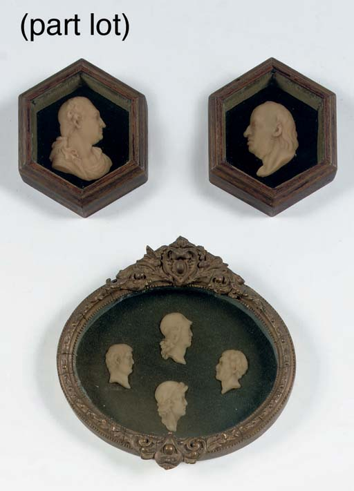 A SERIES OF FOUR ENGLISH WAX P