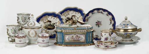 Eleven various porcelain colle