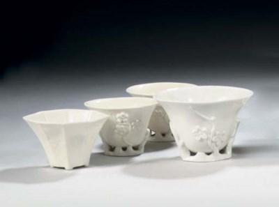 Three Chinese blanc-de-chine '