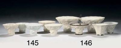 Five Chinese blanc-de-chine li