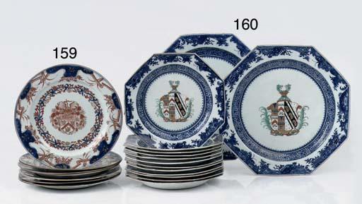 A set of seven Chinese imari a