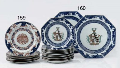 A set of seven Chinese imari a