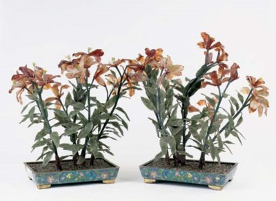 A pair of Chinese cloisonné an