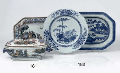 A Chinese Dutch-decorated ture