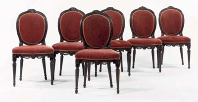 A SET OF SIX DUTCH MAHOGANY DI