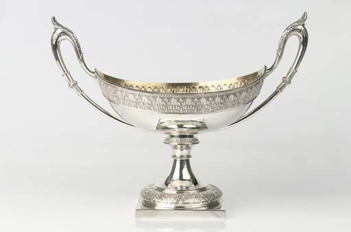 A large German silver two-hand