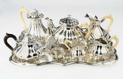 An Austrian silver matched tea