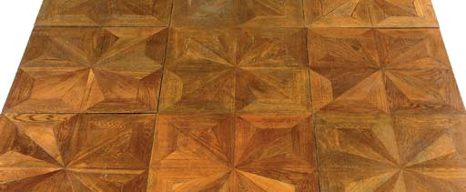 AN AUSTRIAN OAK PARQUET FLOOR