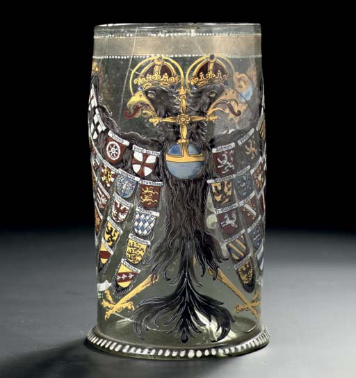A dated glass Reichsadlerhumpe