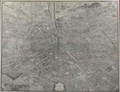 A LARGE FACSIMILE MAP OF PARIS