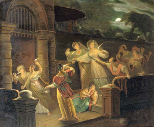 The parabel of the Six Wise and the Six Foolish Virgins