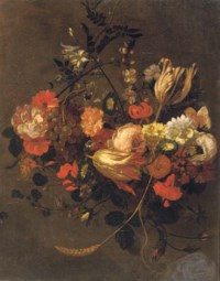 Roses, tulips, violets, poppies and other flowers