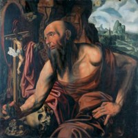 The Penitent Saint Jerome in a cave