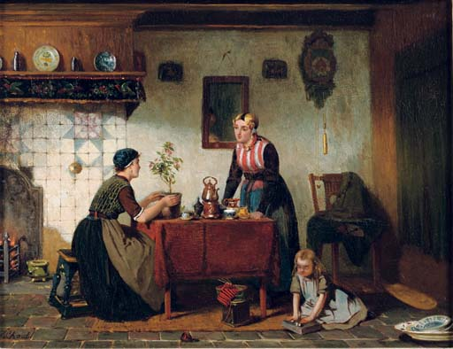 Interior in the North of Holland: tea-time