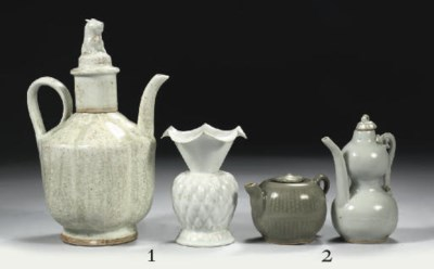 A celadon and yingqing ewer