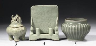 A longquan celadon jar and a f