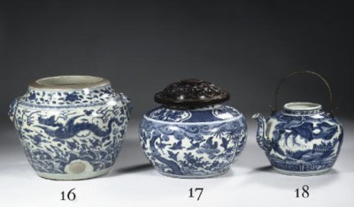 A Ming blue and white jar